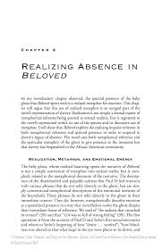 realizing absence in beloved springer metaphor and history in toni morrison s beloved and gabriel garciacutea maacuterquez s one hundred