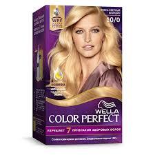 <b>Крем</b>-<b>краска для волос</b> `<b>WELLA</b>` COLOR PERFECT тон 10/0 ...