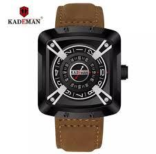 <b>KADEMAN</b> Luxury Brand Military Leather Waterproof Japan Quartz ...