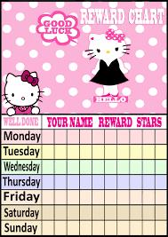best images of day sticker reward chart hello kitty reward hello kitty reward chart printable