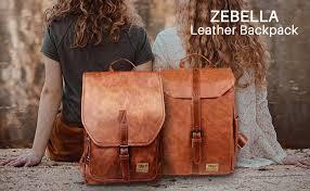 Zebella Women Leather Backpack Purse Fashion PU ... - Amazon.com