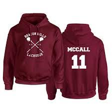 <b>Teen Wolf Hoodie Men</b> McCall 11 Lacrosse Stilinski 24 Lahey 14 ...