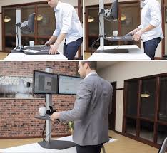 a standing desk is a bit of a commitment and purchasing one of course requires you jettison your existing desk but a company called innovative office bekant desk sit stand ikea