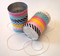 Resultado de imagen para como hacer un telefono con latas