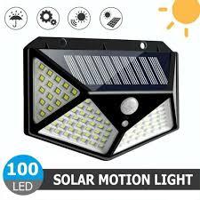 <b>100 Led Solar</b> Light <b>Outdoor Solar</b> Wall Lamp <b>LED</b> Bulb IP65 <b>PIR</b> ...
