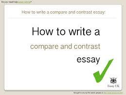 How To Write A Compare And Contrast Essay   Essay Writing