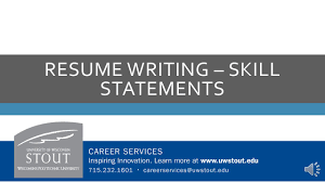 resume writing skill statements skill statements description 2 resume writing skill statements
