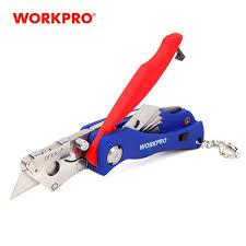 WORKPRO <b>Portable Folding Knife</b> with 5 Blades Pocket Knife Key ...