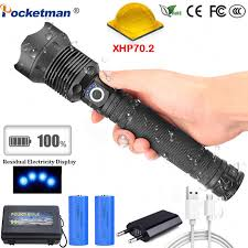 50000 Lumen <b>High Power</b> 5 Modes Aluminum alloy LED Flashlight ...