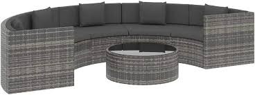 vidaXL <b>6 Piece Garden Lounge</b> Set with Cushions Outdoor Terrace ...