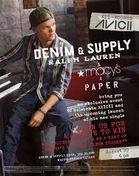Celebrate AVICII with PAPER, <b>Denim & Supply Ralph</b> Lauren, and ...