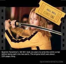 Kill Bill Movie Facts | Bacon Wrapped Media via Relatably.com