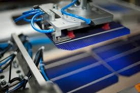 solar cell production in factory