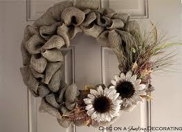 Decorating With Burlap Chic On A Shoestring Decorating Handmade Burlap Wreath Sneak Peak