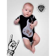 <b>AmaroBaby Боди</b> короткий рукав Rock Baby 01 Guitar ...