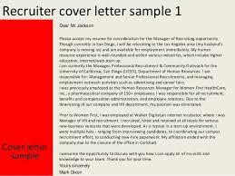 recruiter cover letter sample sample hr recruiter cover letter