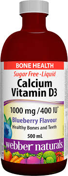 <b>Liquid Calcium Vitamin D3</b> I000 mg/400 IU | Webber Naturals CA