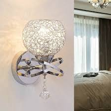 modern style wall lamps bedside lamp bedroom stair lamp crystal wall lights e27 led single gold bedside wall lighting