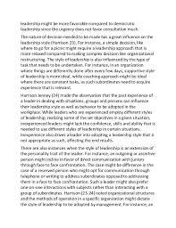 sample essay on understanding leadership styles   leadership might