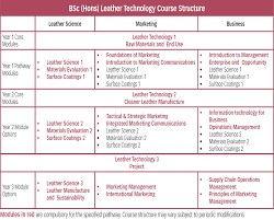 leather technology leather science marketing or business the bsc module grid