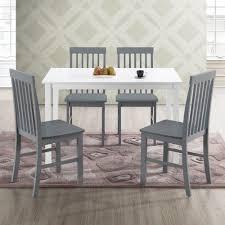 Walker Edison <b>Modern 5</b>-<b>Piece</b> Dining Set - White / Grey - Walmart ...