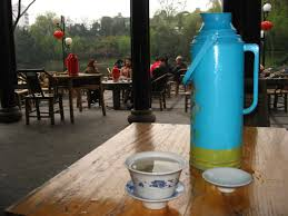 photo essay tea tasting in large thermuses of hot water are given to customers who order tea in the people s park