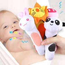 Animals <b>Baby</b> Rattles Soft <b>Plush</b> Toys Handing BB Sounder <b>bell</b> ...