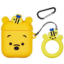 Logee Honey Winnie Case for Apple Airpods 1&2 ... - Amazon.com