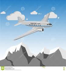 <b>Vintage Retro Airplane</b> Over Mountains Stock Vector - Illustration of ...
