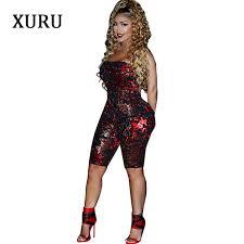 2019 <b>XURU</b> New Women'S Sexy Sequins Jumpsuit Nightclub Club ...