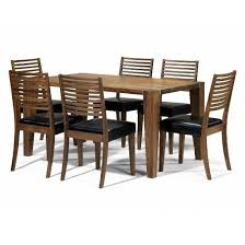 dining sets seater: wooden dining table set seater wooden table sets opus solid walnut seater dining set