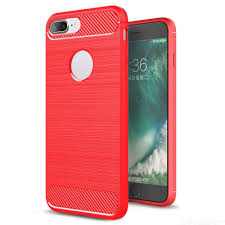 ASLING <b>Carbon Fiber TPU</b> Soft Back Cover Phone Case for iPhone ...