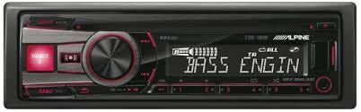 <b>Alpine CDE</b>-<b>190R</b> Amplificateur noir de voiture Media Receiver ...
