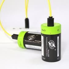 2Pcs <b>ZNTER</b> 1.5V <b>6000mAh</b> USB Rechargeable D Size Battery ...