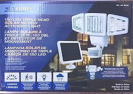 <b>Brand New</b> Sunforce <b>150 LED</b> Triple Head SOLAR Motion Activated ...