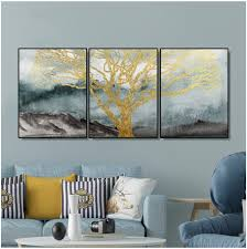 <b>Laeacco 3 Panel</b> Canvas Painting Calligraphy Abstract Tree Posters ...