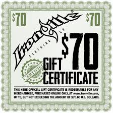 clothing gift certificates bodybuilding clothing gym bodybuilding gym clothes holiday gift certificate 70