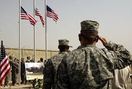 Image result for AMERICAN  SOLDIERS WITH AMERICAN FLAG