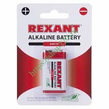 Купить Алкалиновая <b>батарейка Rexant</b> 6LR61 <b>Крона</b> 9V 600mAh ...