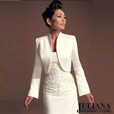 <b>2017 NEW</b> Long White and <b>Ivory Satin</b> Wedding Jacket Wedding ...