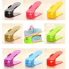 8Pcs Adjustable Shoe Racks Storage, Plastic Shoe Slots Space ...