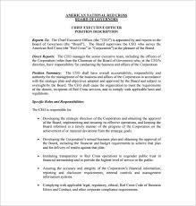 ceo job description template –   free word  pdf format download    president  amp  ceo job description free pdf download