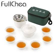 FullChea Set <b>Chinese Travel Kung Fu</b> Tea Set Ceramic Portable ...