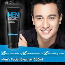 LAIKOU Men Facial Cleanser Face Washing Facial Scrubs ... - Qoo10