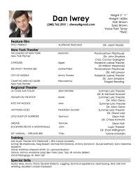 awesome resume for acting audition resume format web audition resume format