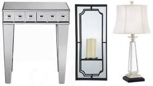 image above left to right mirrored side table 950 mirror pillar holder 6995 mirrored lamp 14999 art deco mirrored furniture
