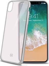 <b>Celly Laser Matt чехол</b> для Apple iPhone X, Transparent Silver ...