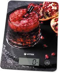 Купить <b>Весы кухонные VITEK VT-8032</b>, темно-серый/рисунок в ...