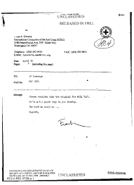 fax cover sheet re letter from frank a sieverts of international fax cover sheet re letter from frank a sieverts of international committee for the red cross icrc to ed cummings dos
