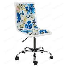 <b>Компьютерное кресло Woodville Mis</b> white/flowers fabric | www ...